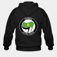 Zip hooded sweatshirt Fuck Daesh. Support Rojava