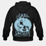 Zip hooded sweatshirt Nazis piss off!