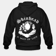 Zip hooded sweatshirt Skinhead a way of life