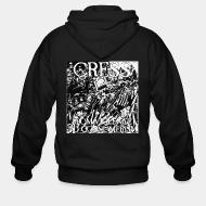 Zip hooded sweatshirt Cress - From violence to consumerism