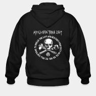 Zip hoodie Appalachian Terror Unit - We will continue to break the law and destroy property until we win