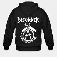 Zip hoodie Disorder - Fight junk not punk