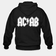 Zip hooded sweatshirt ACAB ACDC