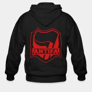 Zip hooded sweatshirt Antifa