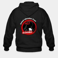 Zip hooded sweatshirt ALF Animal Liberation Front support