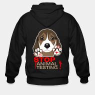 Zip hooded sweatshirt Stop animal testing