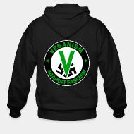 Zip hooded sweatshirt Veganism against fascism