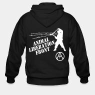 Zip hooded sweatshirt Animal Liberation Front - ALF