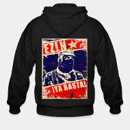 Zip hooded sweatshirt EZLN ¡Ya basta!