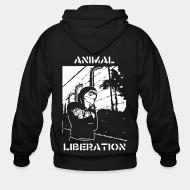 Zip hooded sweatshirt Animal liberation
