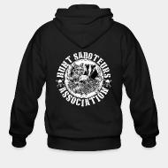 Zip hooded sweatshirt Hunt saboteurs association