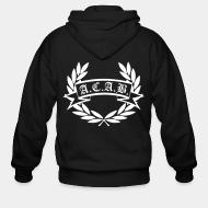 Zip hooded sweatshirt A.C.A.B. All Cops Are Bastards