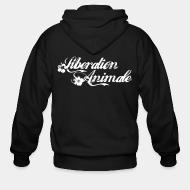Zip hooded sweatshirt Libération animale