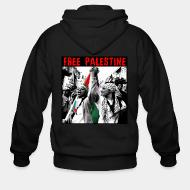 Zip hooded sweatshirt Free Palestine