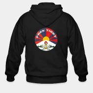 Zip hooded sweatshirt Free Tibet