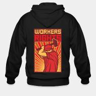 Zip hooded sweatshirt Workers rights