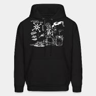 Hooded sweatshirt Angry Youth - Kill the pigs