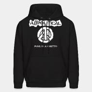 Hoodie A//political - Punk is a ghetto