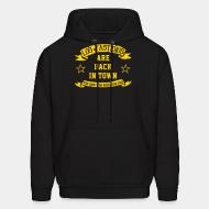 Hooded sweatshirt Los Fastidios are back in town - stay rude, stay rebel, stay free