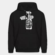 Hooded sweatshirt Clean up your neighborhood! Antifa cleaning agent 100% anti-fascist