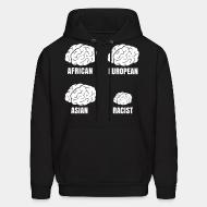 Hooded sweatshirt Racist small brain