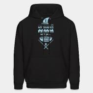 Hooded sweatshirt I want my sharks in the ocean not in a fucking soup