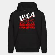 Hooded sweatshirt 1984 ignorance is strength war is peace