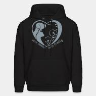 Hoodie Love animals, hate cruelty