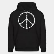 Hooded sweatshirt Peace