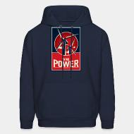 Hooded sweatshirt Wind power - renewable energy