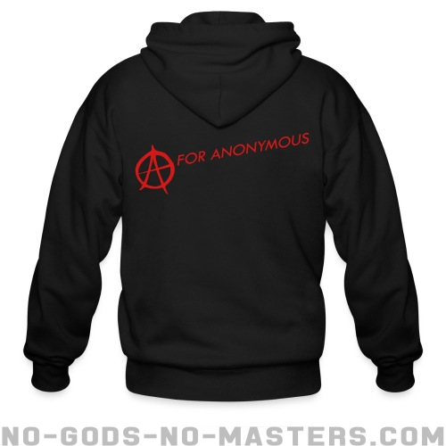 A for anonymous  - Anonymous Zip hoodie
