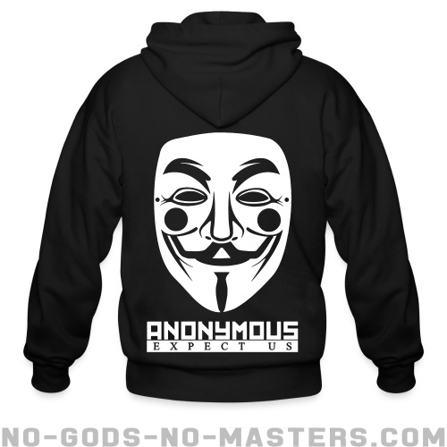 Anonymous. Expect us - Anonymous Zip hoodie