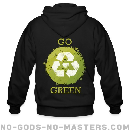 Go green - Eco-friendly Zip hoodie