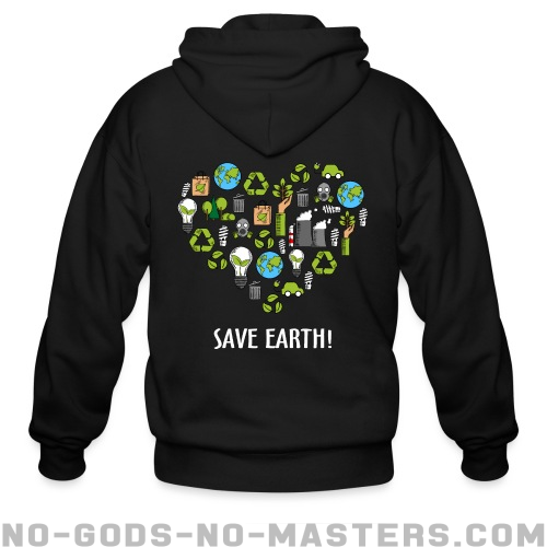 Save earth! - Eco-friendly Zip hoodie