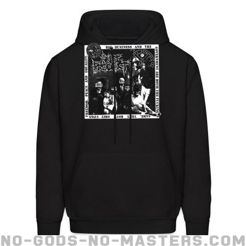 Anti-Product - Big business and the government are both the fucking same. They both shit upon freedom, peace and equality. - Band Merch Hooded sweatshirt
