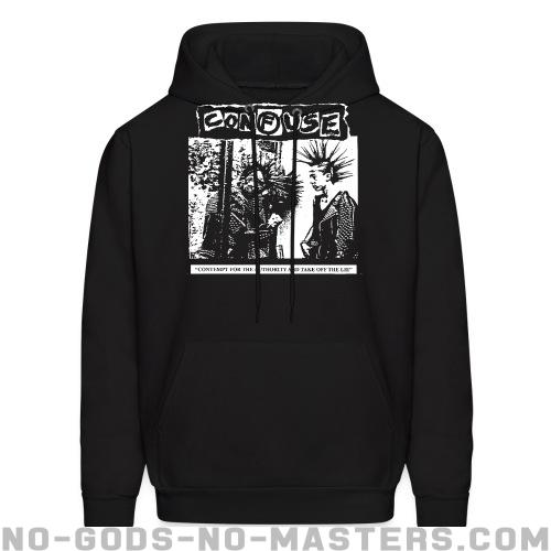 Confuse - Contempt for the authority and take off the lie - Band Merch Hooded sweatshirt