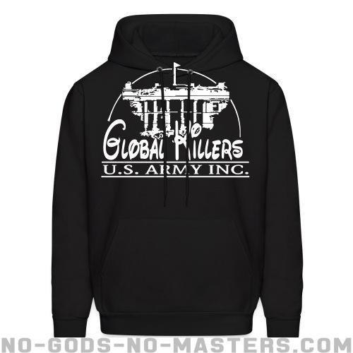 Global Killers - U.S. Army Inc. - Anti-war Hooded sweatshirt