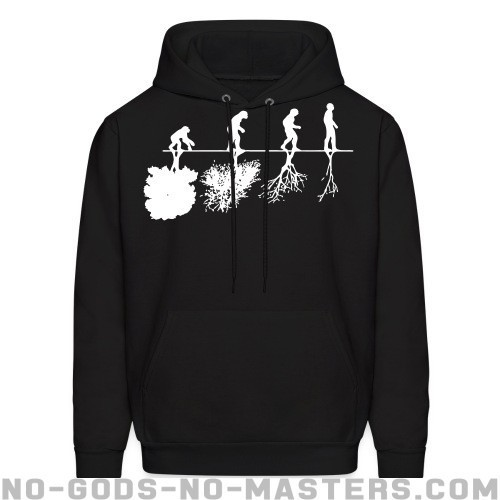 Human evolution and the destruction of the environment - Eco-friendly Hooded sweatshirt