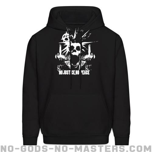 No justice, no peace  - Punk Hooded sweatshirt