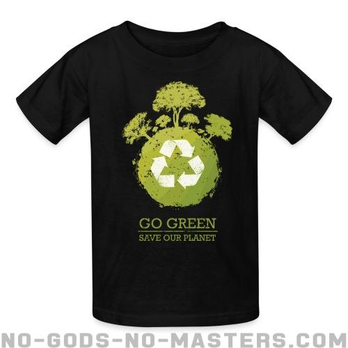 Go green / save our planet - Eco-friendly Kids t-shirt