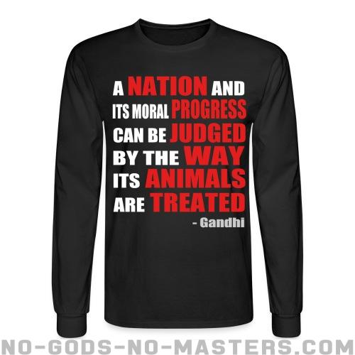 A nation and its moral progress can be judged by the way its animals are treated (Gandhi ) - Animal Liberation Long sleeves