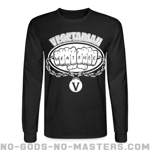 Long-sleeves crewneck Vegetarian meat free - Vegan & Animal liberation