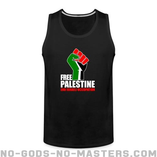 Free palestine end israeli occupation - Anti-war Tank top