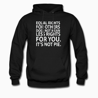 Hoodie Equal rights for others does not mean less rights for you. It's not pie.