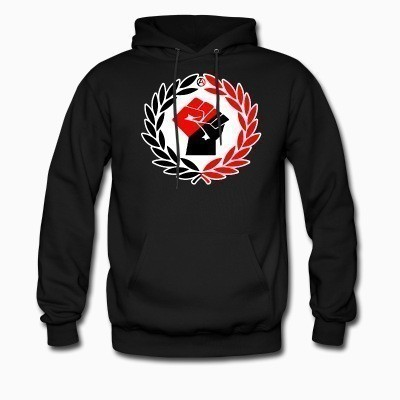 Hoodie Red & Black Raised Fist