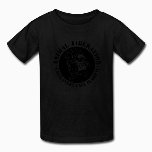 Kid tshirt Animal Liberation - Until every cage is empty