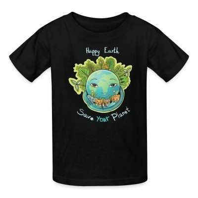 Kid tshirt Happy earth save your planet