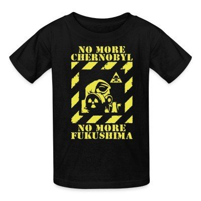 Kid tshirt No more Chernobyl, no more Fukushima