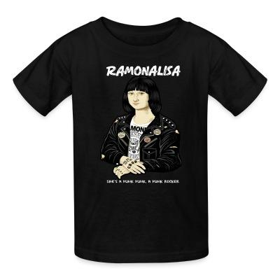 Kid tshirt Ramonalisa she's a punk punk, a punk rocker