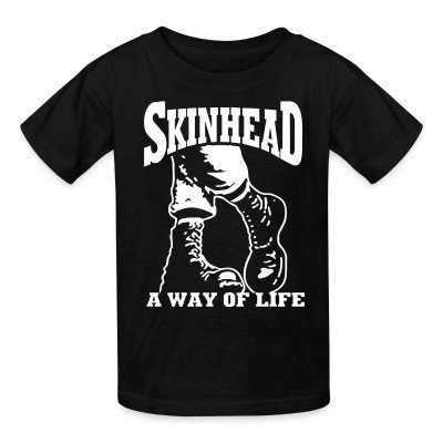 Kid tshirt Skinhead a way of life